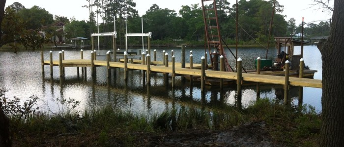 Residential Boat Dock Completed