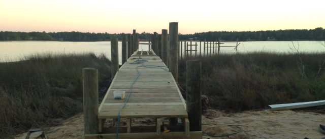 Building a Boat Dock