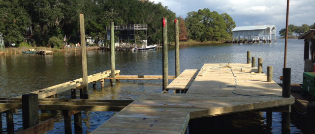 Residential Boat Dock Partially Completed
